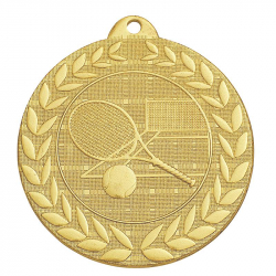 MEDAILLE TENNIS OR 50MM +...