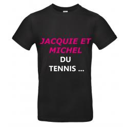 T-SHIRT JACQUIE ET MICHEL NOIR