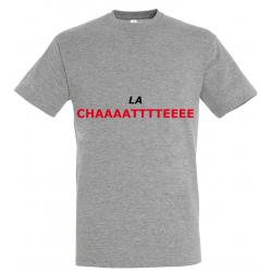 T-SHIRT LA CHATTE GRIS