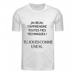 T-SHIRT TECHNIQUE BLANC