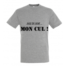 T-SHIRT MON CUL GRIS