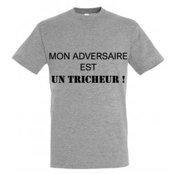 T-SHIRT TRICHEUR GRIS
