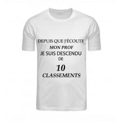 T-SHIRT CLASSEMENT BLANC