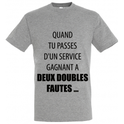 T-SHIRT DOUBLE FAUTE GRIS
