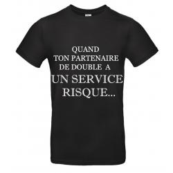 T-SHIRT SERVICE RISQUE NOIR