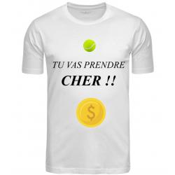 T-SHIRT PRENDRE CHER BLANC
