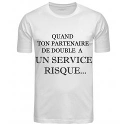 T-SHIRT SERVICE RISQUE BLANC