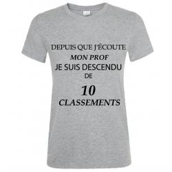 T-SHIRT CLASSEMENT GRIS