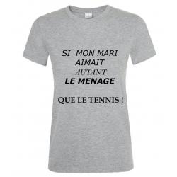 T-SHIRT MENAGE GRIS