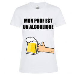 T-SHIRT ALCOOLIQUE BLANC