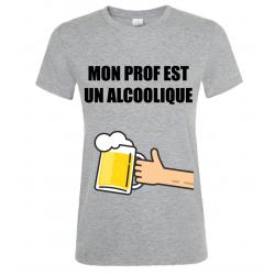 T-SHIRT ALCOOLIQUE GRIS