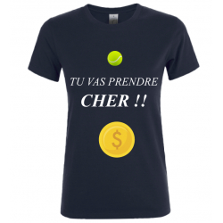 T-SHIRT PRENDRE CHER NOIR