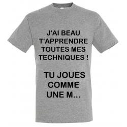 T-SHIRT TECHNIQUE GRIS JUNIOR