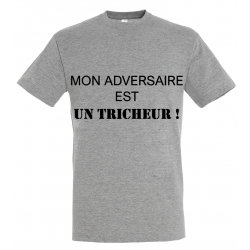 T-SHIRT TRICHEUR GRIS JUNIOR