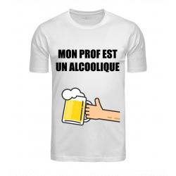 T-SHIRT ALCOOLIQUE BLANC...