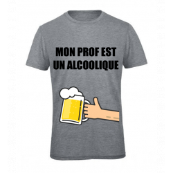 T-SHIRT ALCOOLIQUE GRIS JUNIOR