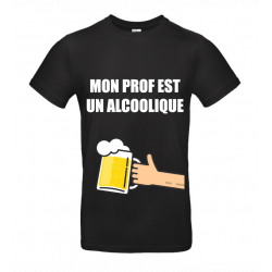 T-SHIRT ALCOOLIQUE NOIR JUNIOR