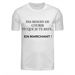 T-SHIRT MARCHE BLANC JUNIOR