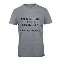 T-SHIRT MARCHE GRIS JUNIOR