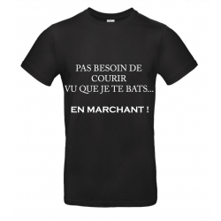 T-SHIRT MARCHE NOIR JUNIOR