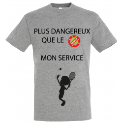 T-SHIRT SERVICE GRIS JUNIOR