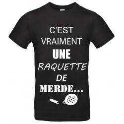 T-SHIRT RAQUETTE DE MERDE NOIR