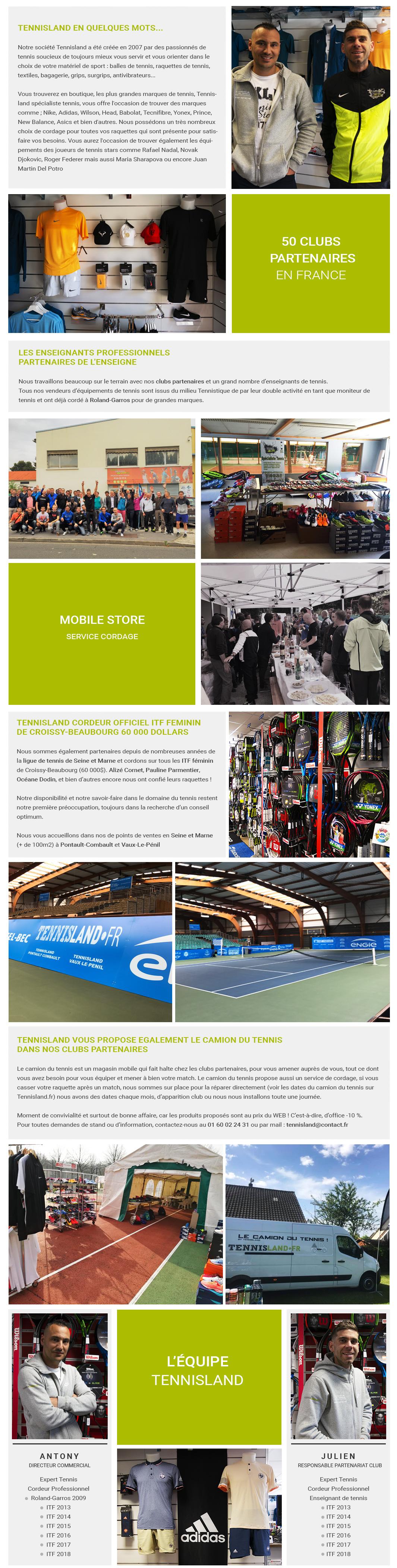 Tennisland et ses clubs partenaires