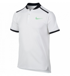POLO NIKE ADVANTAGE BLANC GARCONS