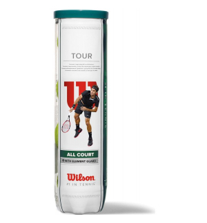 TUBES DE 4 BALLES WILSON TOUR ALL COURT