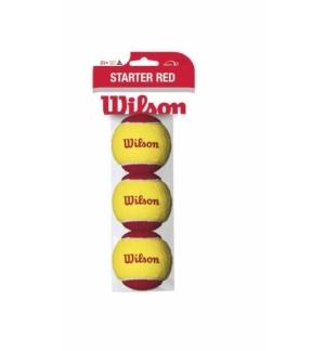 SACHET DE BALLES WILSON STARTER RED X3