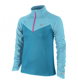 MAILLOT NIKE ELEMENT 1/2 ZIP LS YTH
