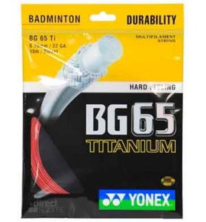 CORDAGE YONEX BG 65 TI