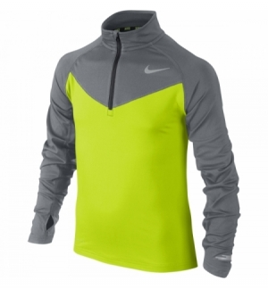 MAILLOT NIKE ELEMENT 1/2 ZIP LS YTH SP15